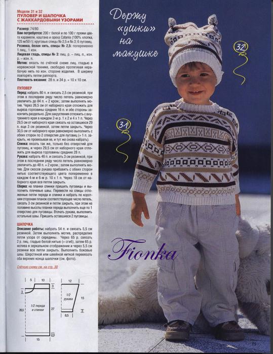 Вязание спицами шапки на мальчика 2 года
