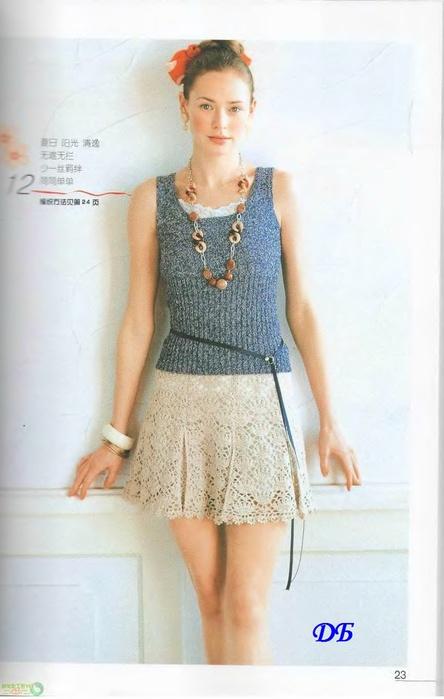 Схемы вязания юбки - Схемы для вязания.