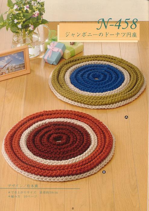 схемы вязания крючком ковриков на стулья
