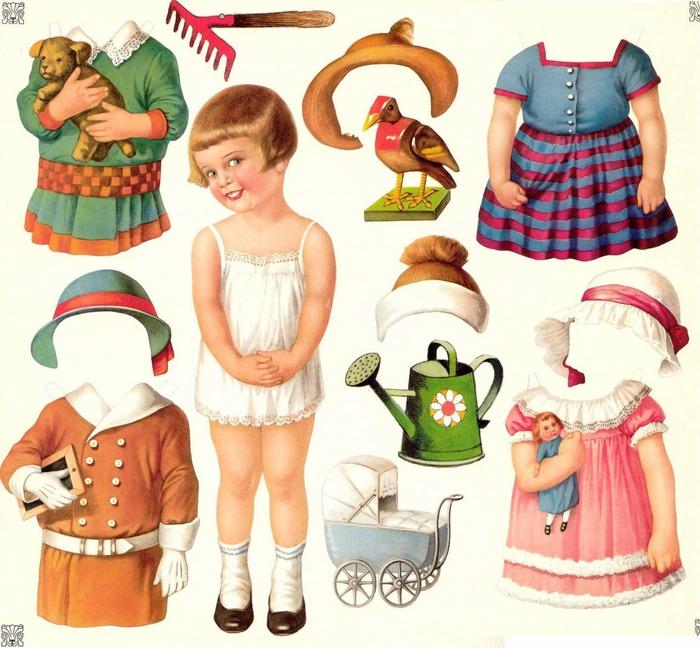 Кукла из бумаги своими руками для детей