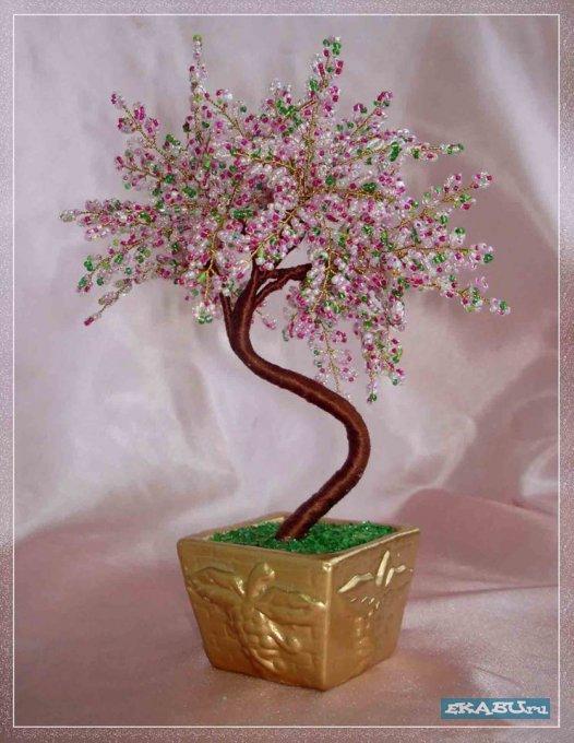 деревья из бисера схемы - Интересные полезности.