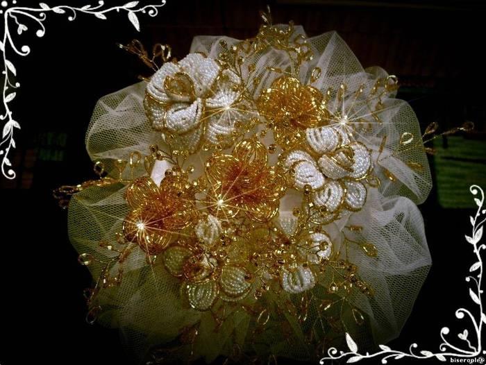 Букеты цветов из бисера.  Букеты бисерные, Цветы и флористика ручной работы.