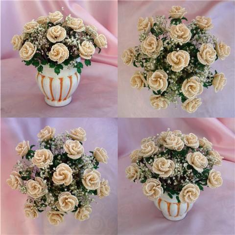Бисероплетение цветы розы схемы - Делаем фенечки своими руками.