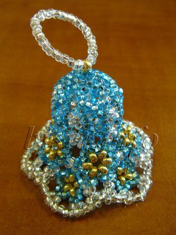 Очень красивые, прямо сказочные колокольчики из бисера.  Схемы плетения и описание плетения колокольчиков.