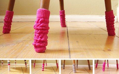 Накладки на ножки стула своими руками