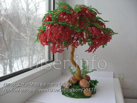Вязание бисером деревья