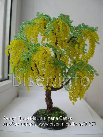 Нашла сегодня вот такие чудесные деревья из бисера,мне очень нравится бисероплетение,эта бесподобная техника!