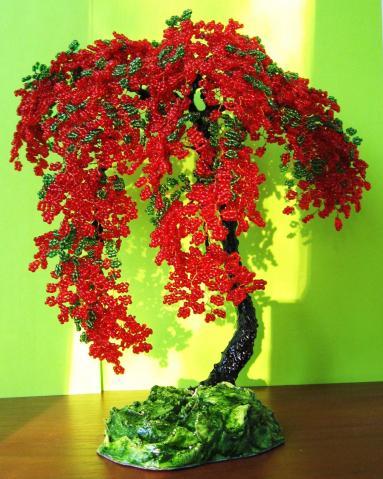 Такие чудесные деревья из бисера мне