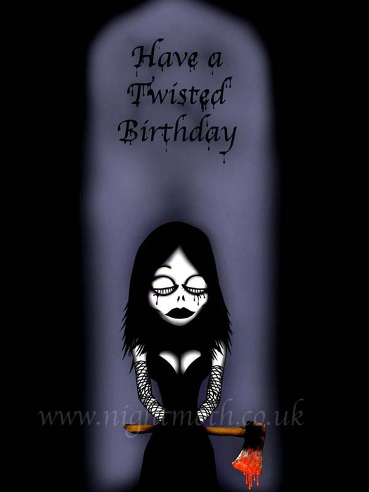 С днем рождения темные открытки 59