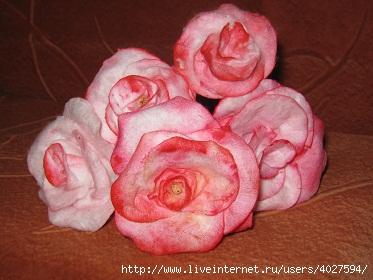 Цветы из ватных дисков своими руками пошаговое фото для начинающих 15
