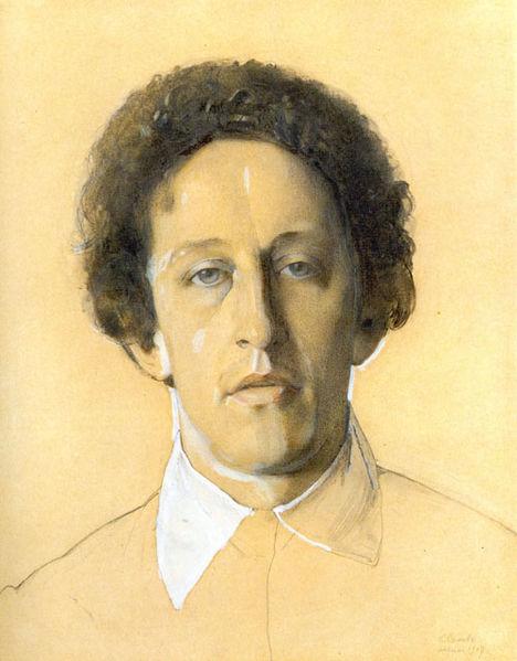 А.Блок, портрет работы худ.  Сомова.  Blok-1