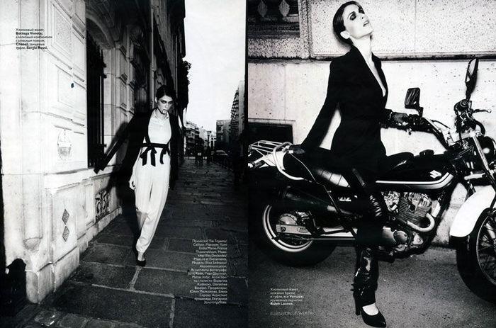 Женские наряды в мужском стиле журнал Vogue Russia декабрь 2010.