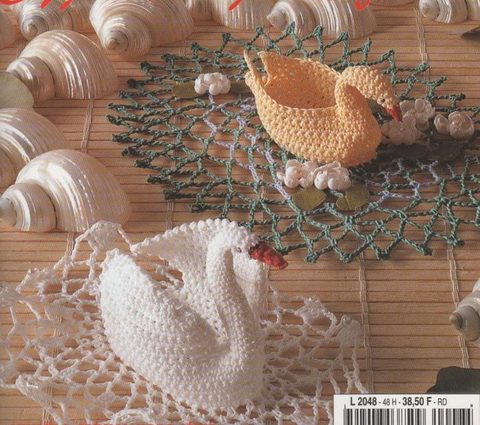 Схема Вязания Крючком Лебедя