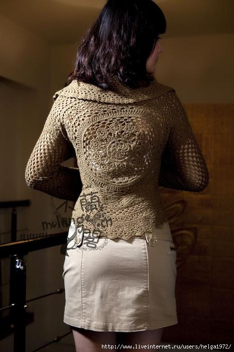 Блузка жакет из круга