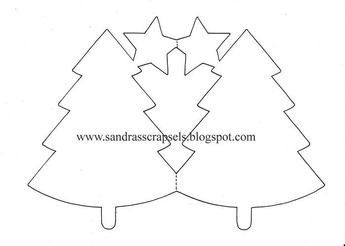 Рисунки Открытка елка из бумаги своими руками