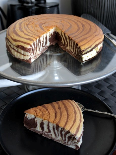 Зебра торт