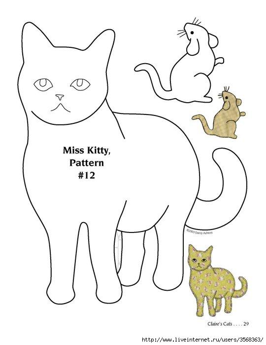 Трафареты кошек своими руками сделать 852