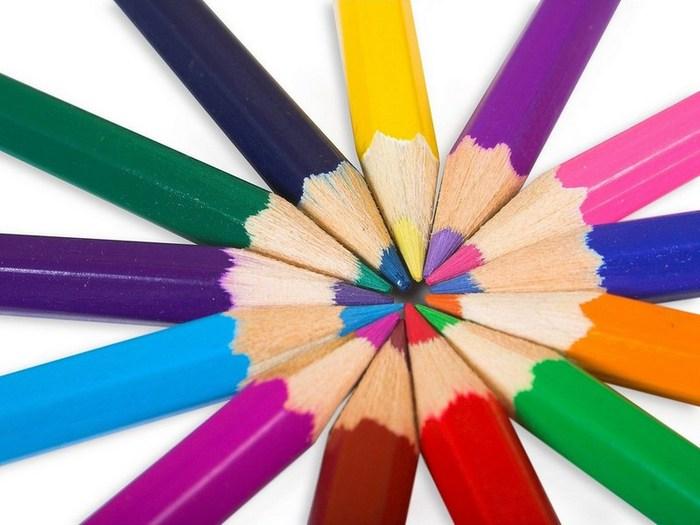 Как сделать яркие карандаши