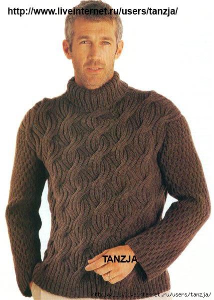 вязанные мужские свитера с