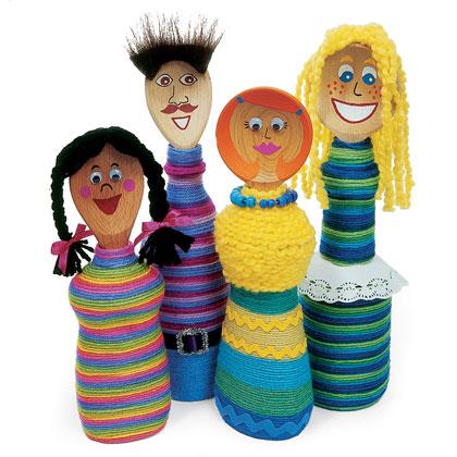 Куклы из бутылок от шампуня