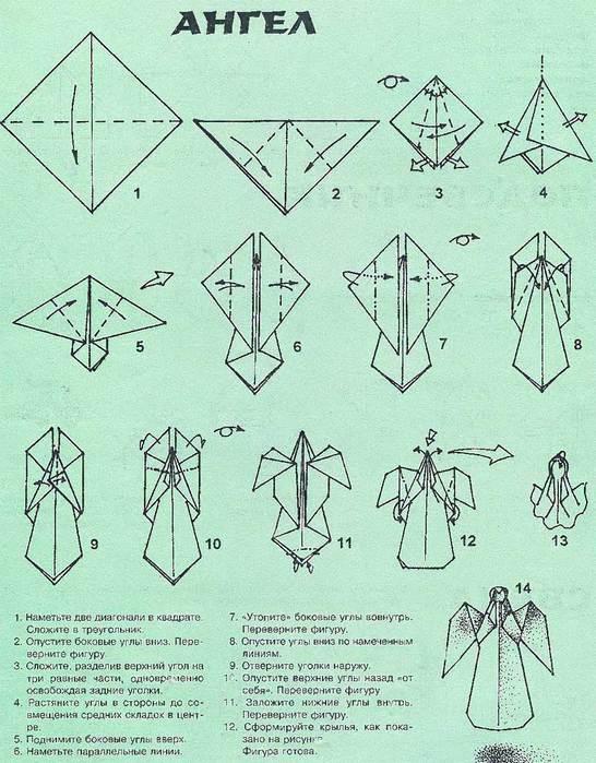 Оригами Ангел.  Обсуждение на LiveInternet - Российский Сервис Онлайн.