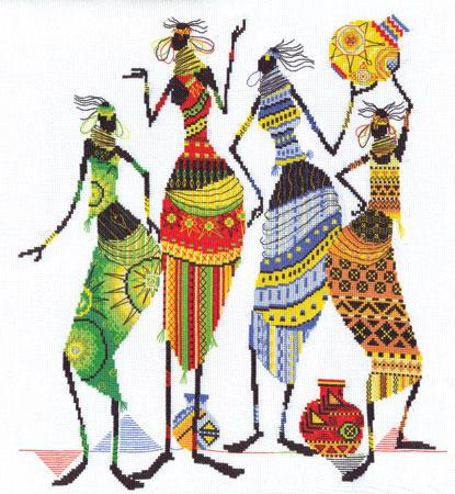 """Набор для вышивания  """"Африканочки-подружки """" Panna Наборы для вышивания BELOSNEZHKA.NET - интенет-магазин товаров для..."""