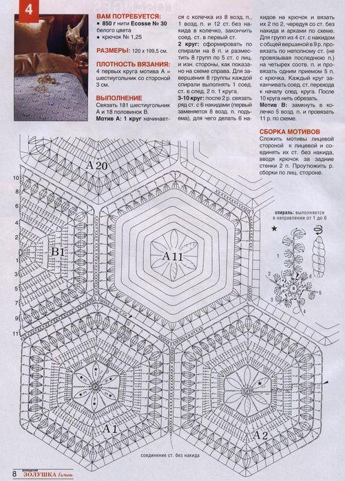 Вязание схемы для покрывала