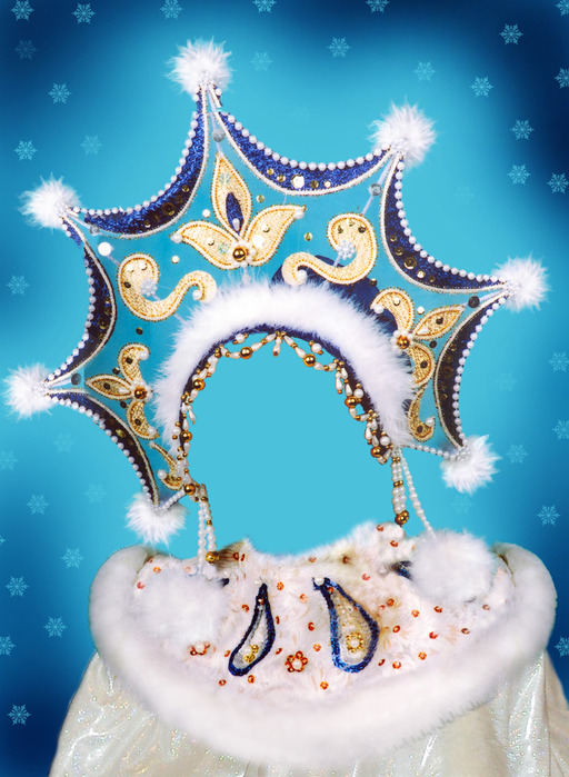 Детский шаблон - снегурочка и новогодняя ночь psd 3510x4610 8868 mb автор: wertyozka