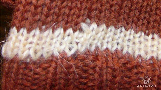 Переход одного цвета в другой вязание