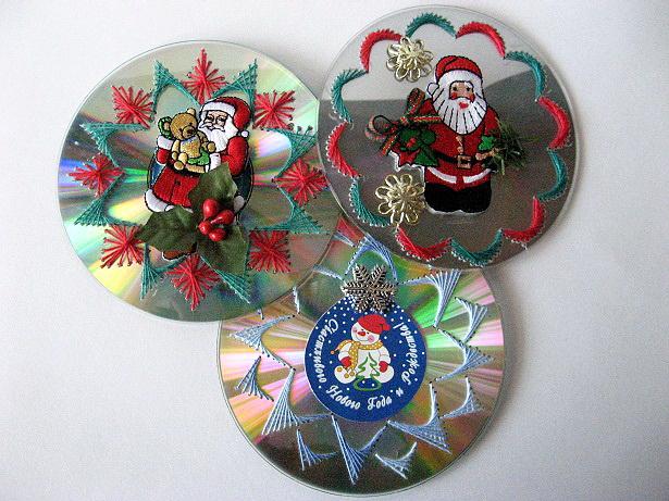 Поделки к новому году из дисков мастерская деда мороза