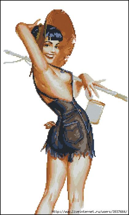 Набор для вышивания крестом Девушка в шортах Производитель КЛАРТ