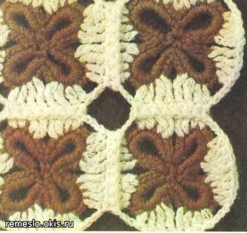 Узоры для цветного вязания крючком.  Вязание схема и описание.