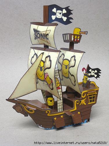Какие соотношения сторон у торта в виде корабля?