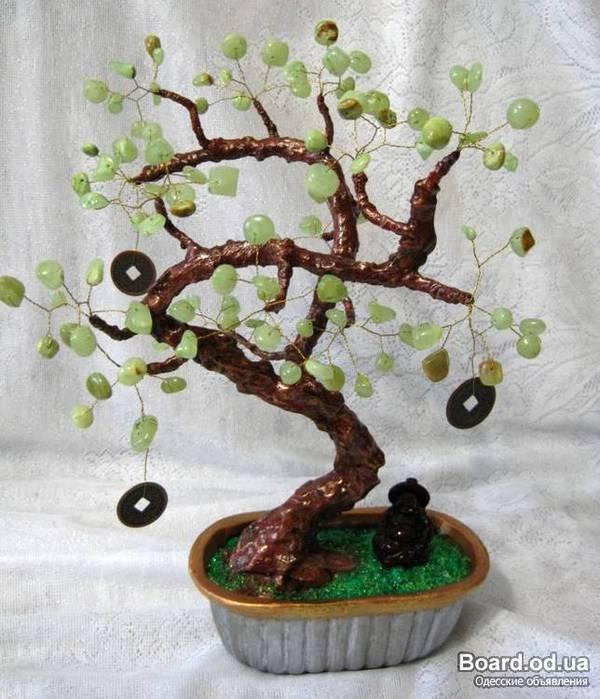 Денежное дерево из бисера с