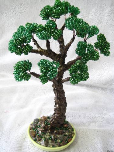 деревья из бисера фото - Ппланета схем.