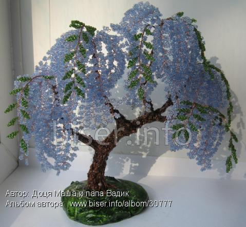 чудесные деревья из бисера