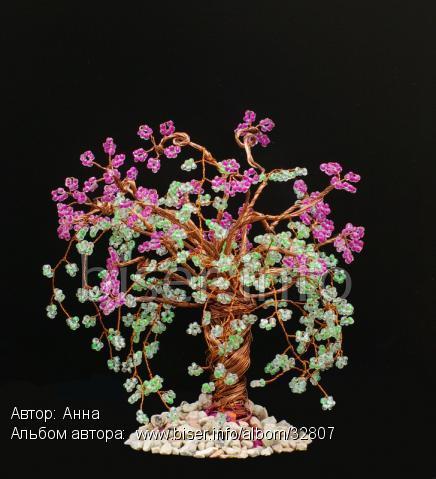 Номер фотографии : 42928.  Название фотографии: Плетение из бисера.  Цветущая сакура. web - 800 x 600 (72dpi) .