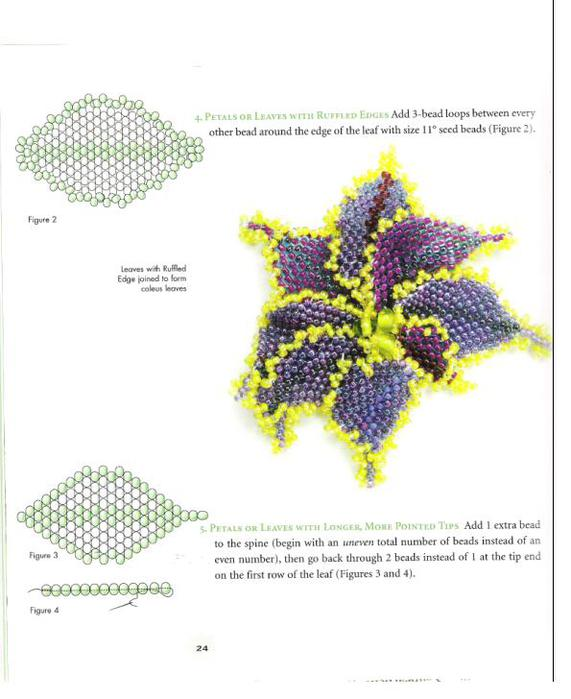 синяя орхидея из бисера схема плетения - Сумки.