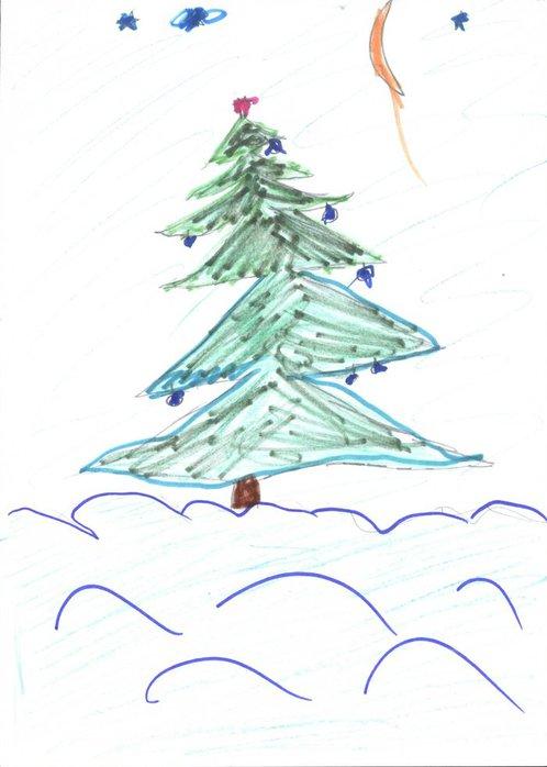 детские рисунки с елочками
