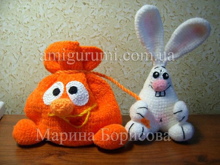 Видео вязание крючком игрушек зайцев нет