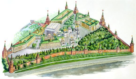 Московский Кремль - символ российской государственности, один из крупнейших архитектурных ансамблей мира...