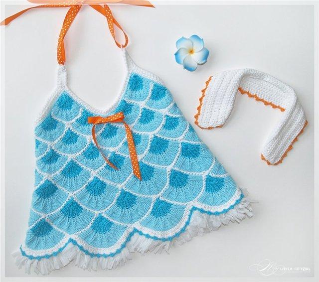 детские летние топики майки вязание.