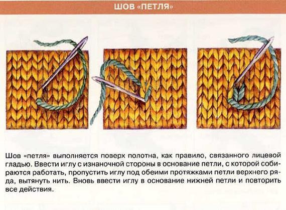 Вышивка шов петля схемы
