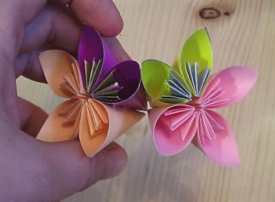 Новогоднее украшение: шарик из бумажных цветов (мастер-класс) Очумелые ручки