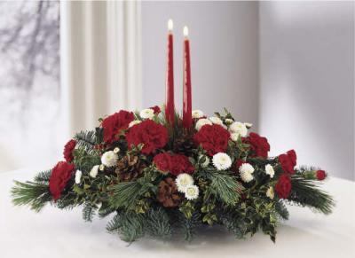 """новогодняя композиция со свечами 52 - заказ, доставка  """"Цветочная..."""