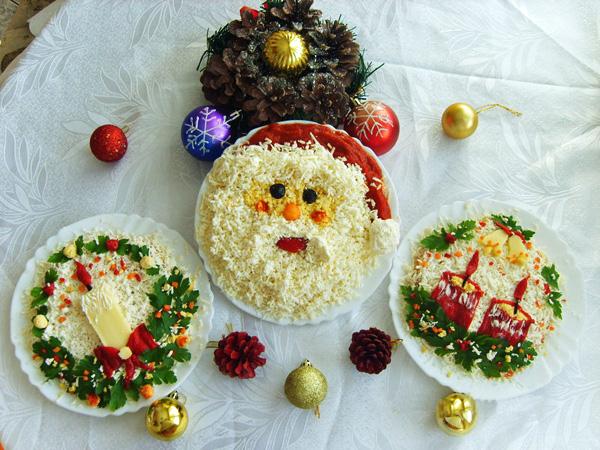 Блюда украшения на новый год своими руками