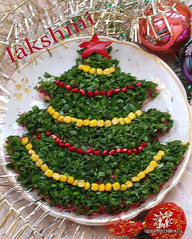 Украшение для новогодних салатов фото