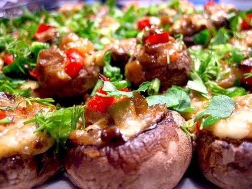 Шампиньоны фаршированные - Блюда из грибов. рецепт Шампиньоны...