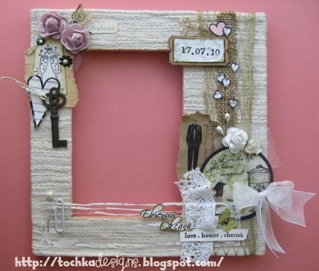 Декор свадебной рамки для фото своими руками