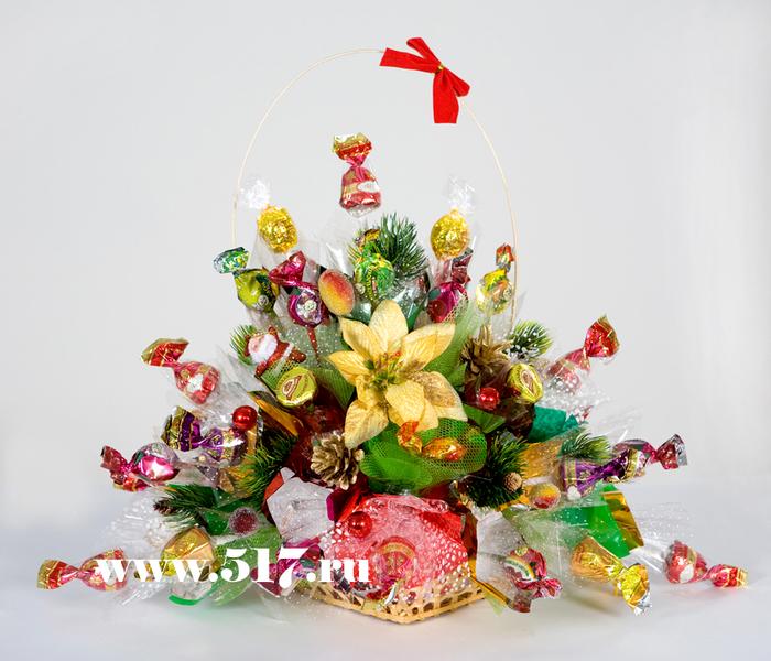 Букет из конфет к новому году своими руками мастер класс